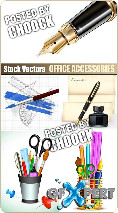 Office accessories - Stock Vector