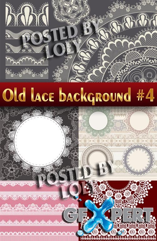 Vintage lace background #4 - Stock Vector