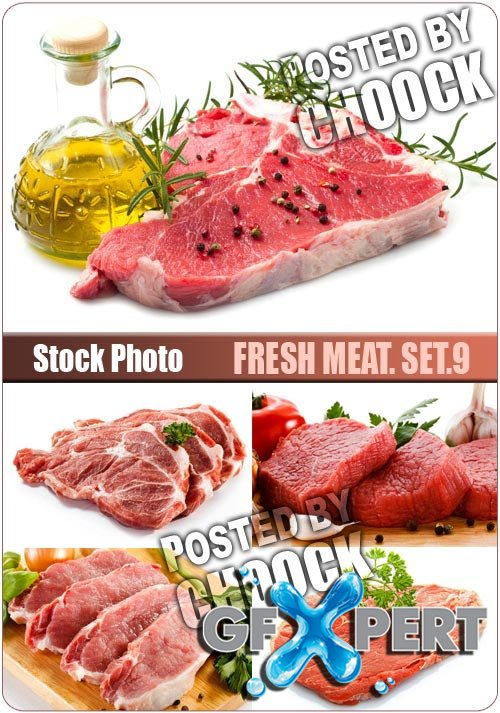 Fresh meat. Set.9 - Stock Photo