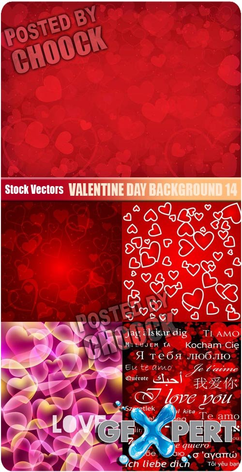 Valentine day background 14 - Stock Vector