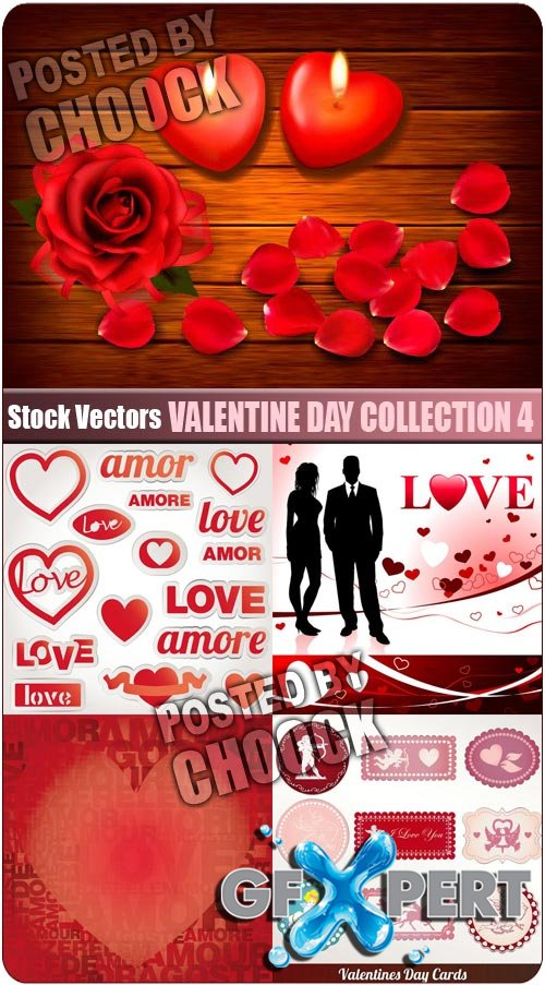Valentine day collection 4 - Stock Vector