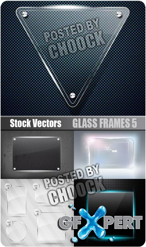 Glass frames 5 - Stock Vector