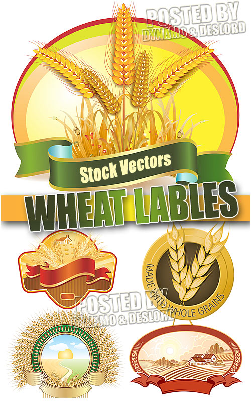 Wheat lables - Stock Vectors