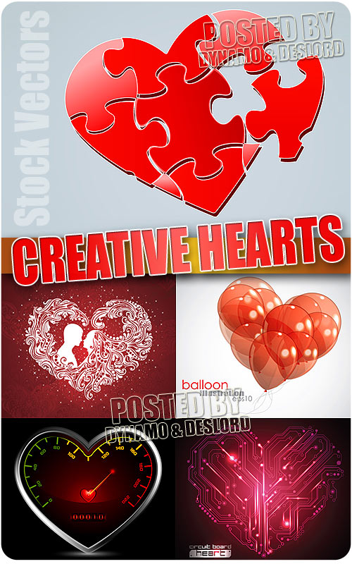 Creative hearts 2 - Stock Vectors