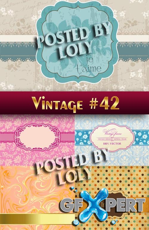 Vintage backgrounds #42 - Stock Vector