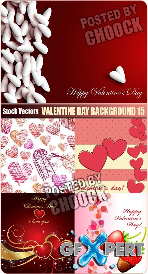 Valentine day background 15 - Stock Vector