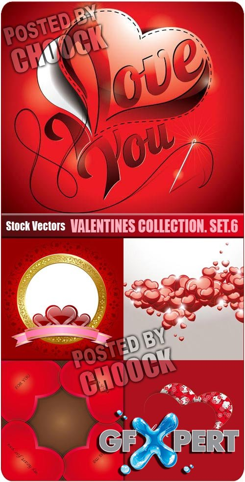 Valentines collection. Set.6 - Stock Vector