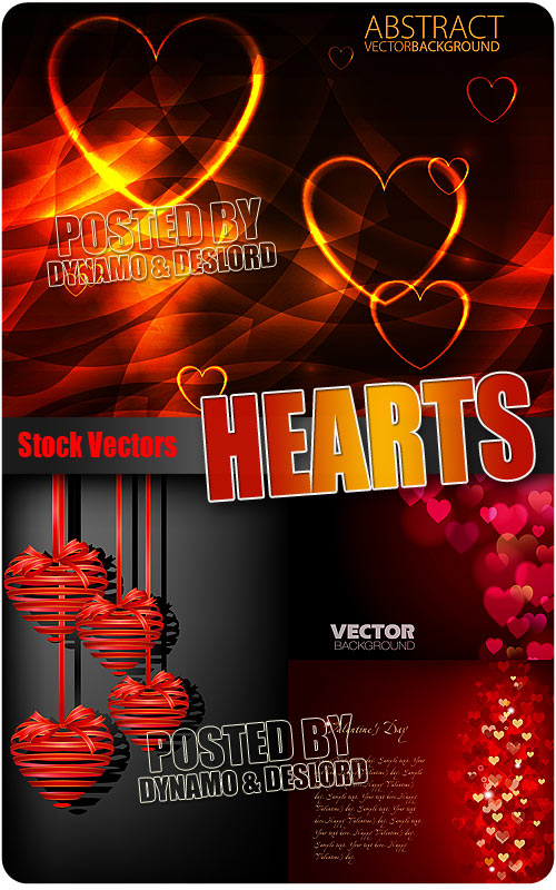 Hearts 3 - Stock Vectors