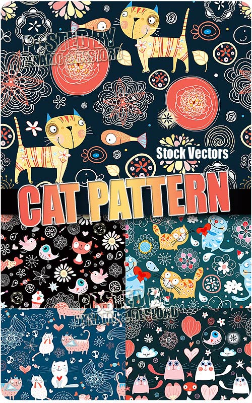 Cat pattern - Stock Vectors