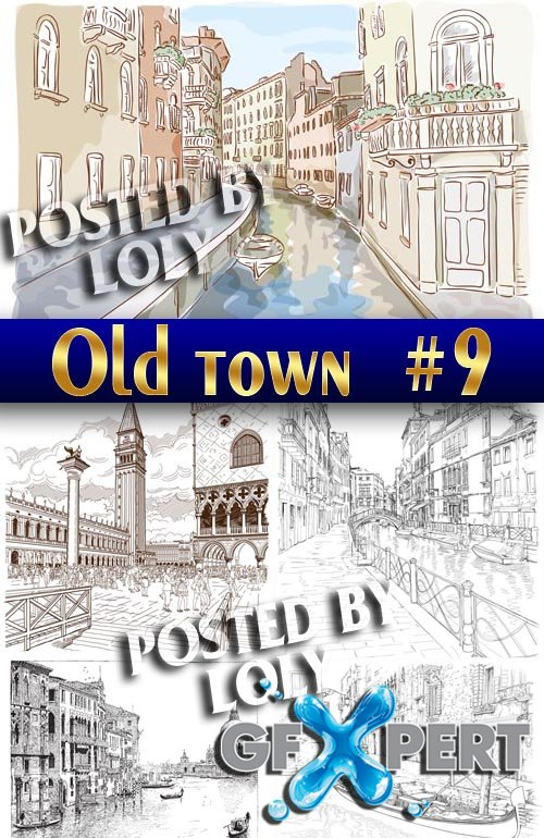 Old Town #9 - Stock Vector