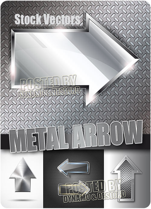 Metal arrow - Stock Vectors