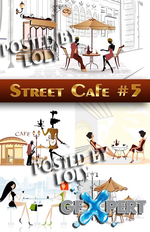 Street Cafe #5 - Stock Vector