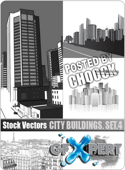 City buildings. Set.4 - Stock Vector