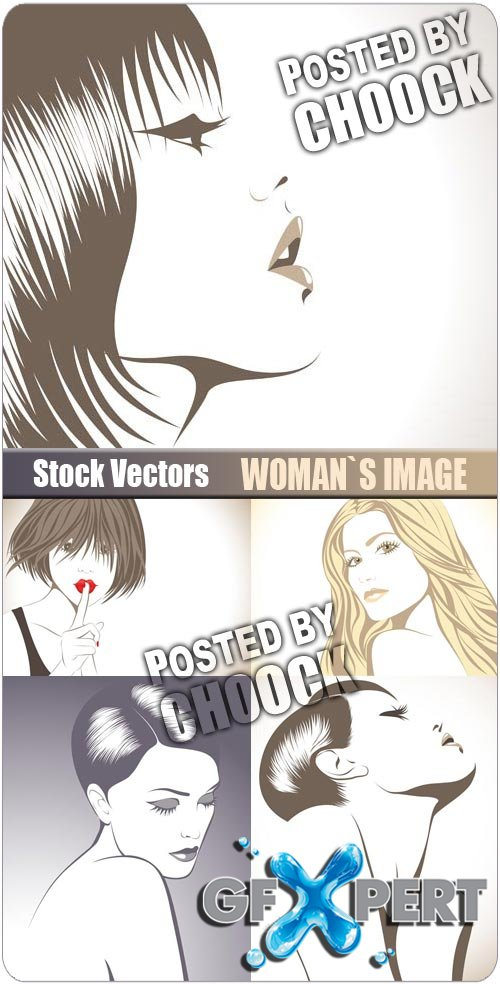 Woman`s image - Stock Vector
