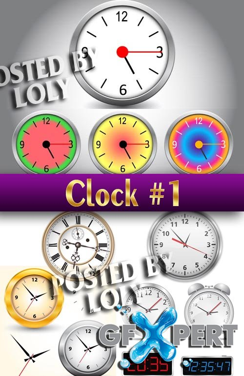 Vector Clock # 1 - Stock Vector