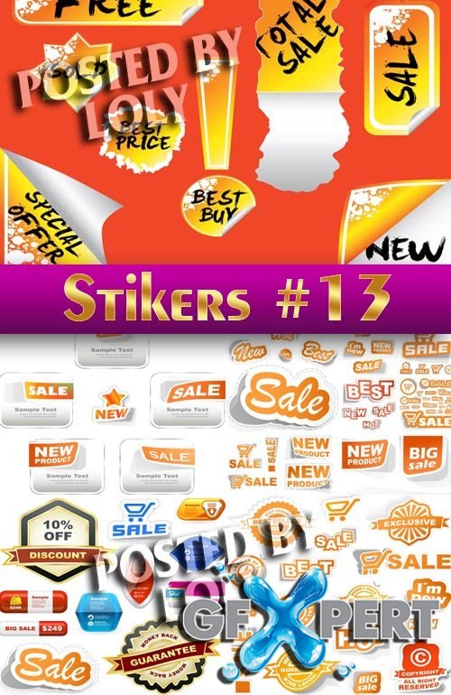 Stickers. SALE #13 - Stock Vector
