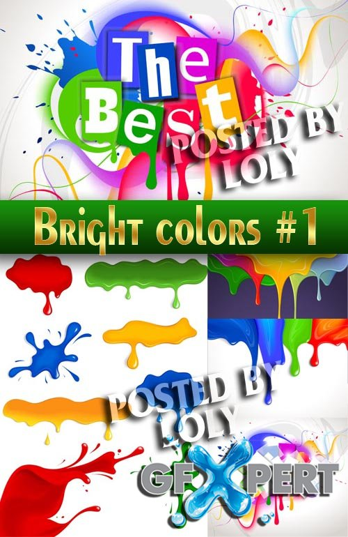 Bright colors #1 - Stock Vector