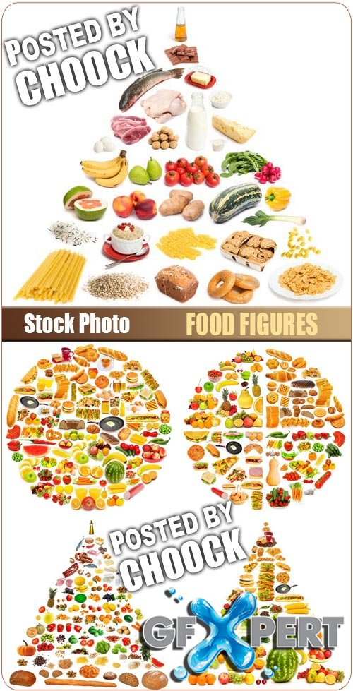 Food figures - Stock Photo