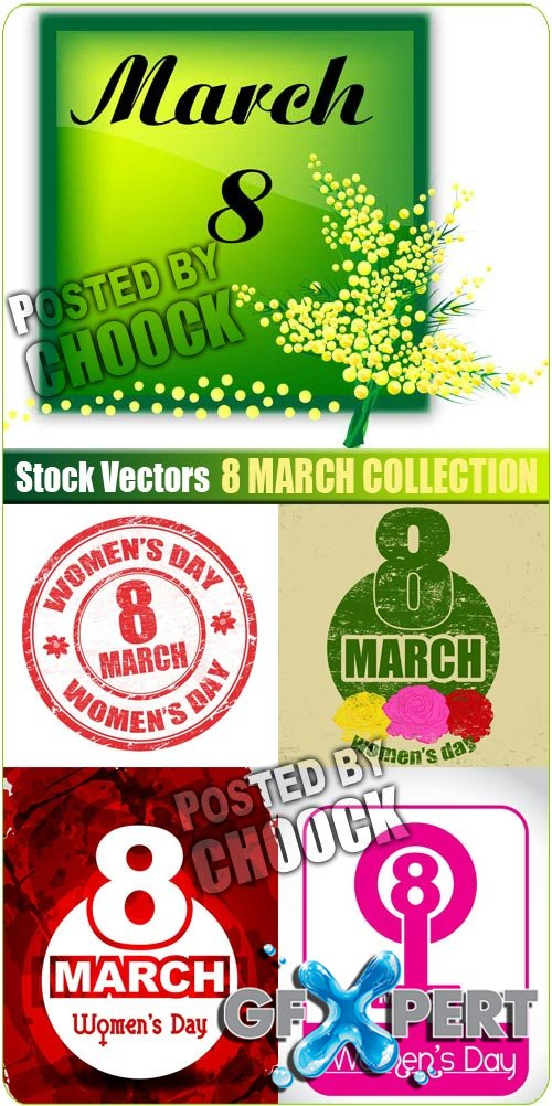 8 March collection - Stock Vector