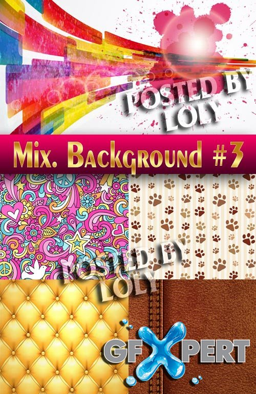 Mix. Vector Backgrounds #3 - Stock Vector