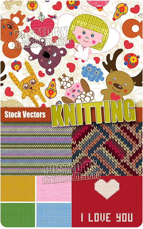 Knitting - Stock Vectros