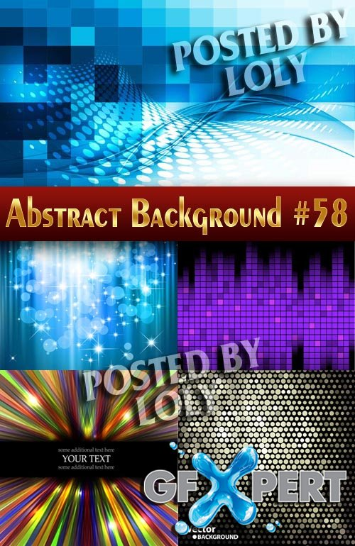 Vector Abstract Backgrounds #58 - Stock Vector