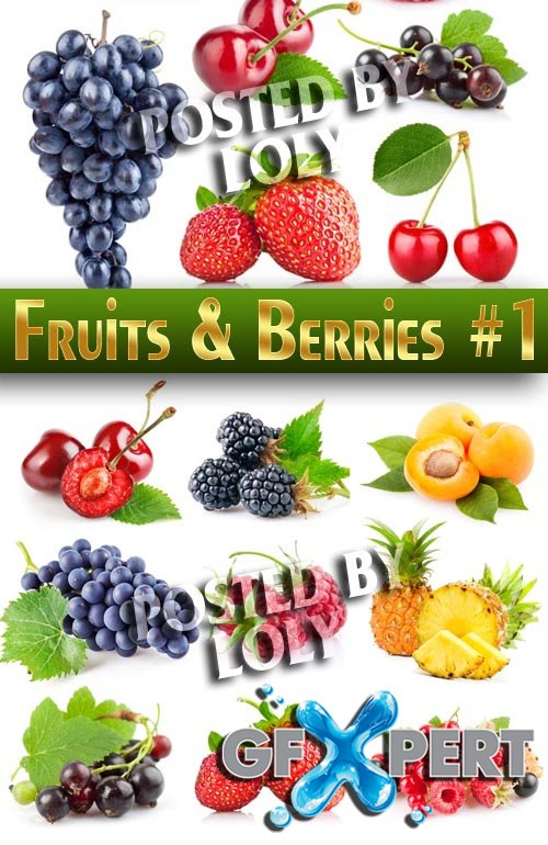 Fruits and berries #1 - Stock Photo