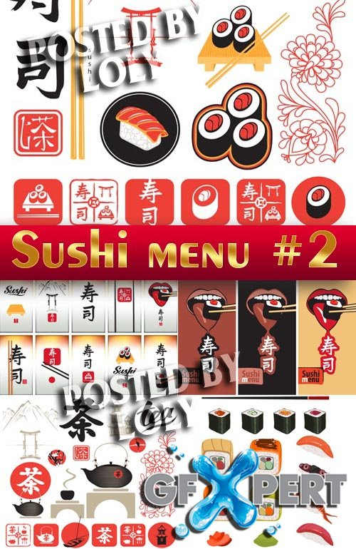 Sushi Menu #2 - Stock Vector