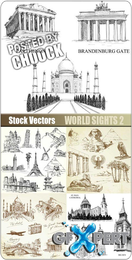 World sights 2 - Stock Vector