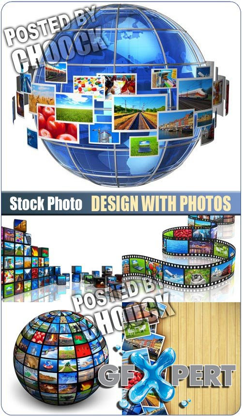 Design with photos - Stock Photo