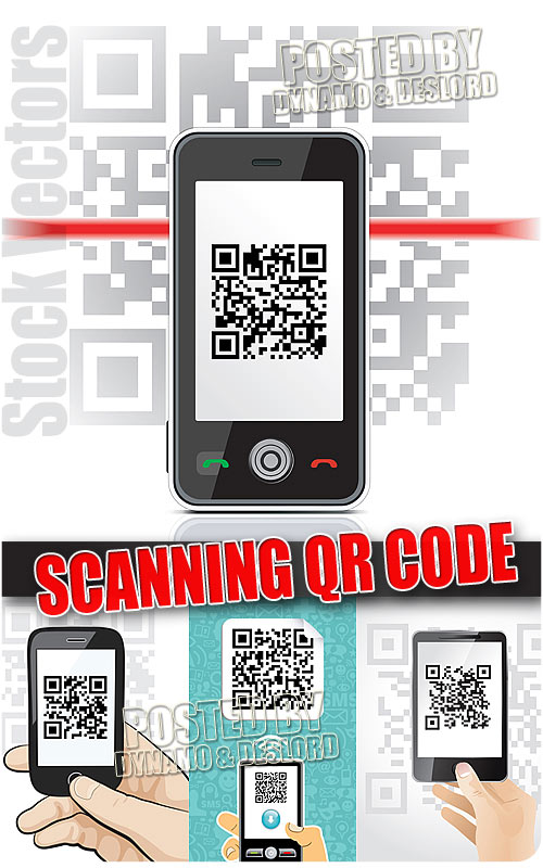 Scanning qr code - Stock Vectors