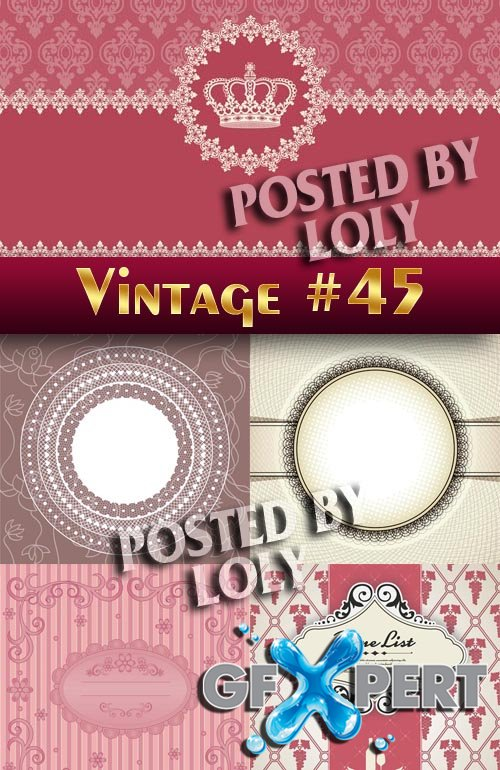 Vintage backgrounds #45 - Stock Vector
