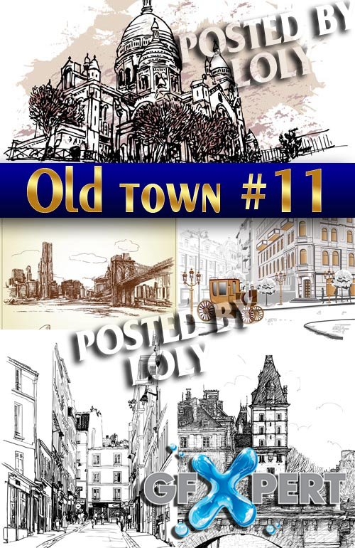 Old Town #11 - Stock Vector