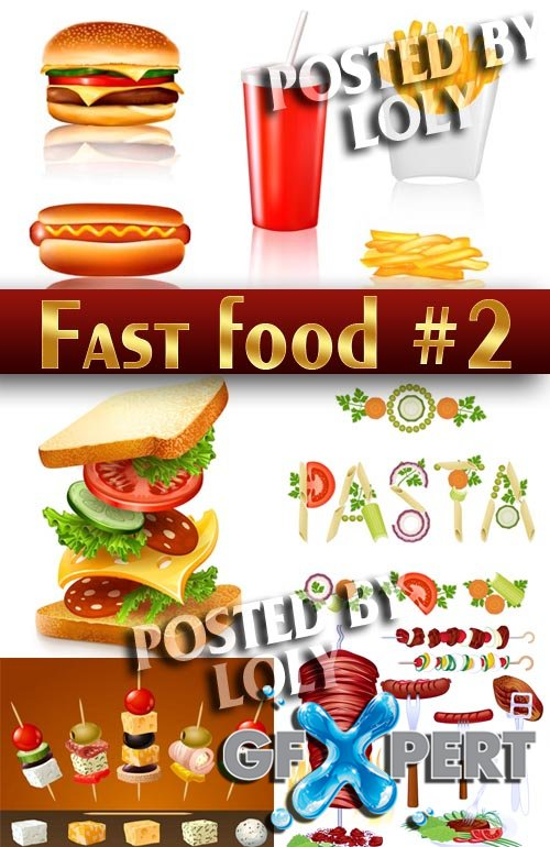Fast Food #2 - Stock Vector