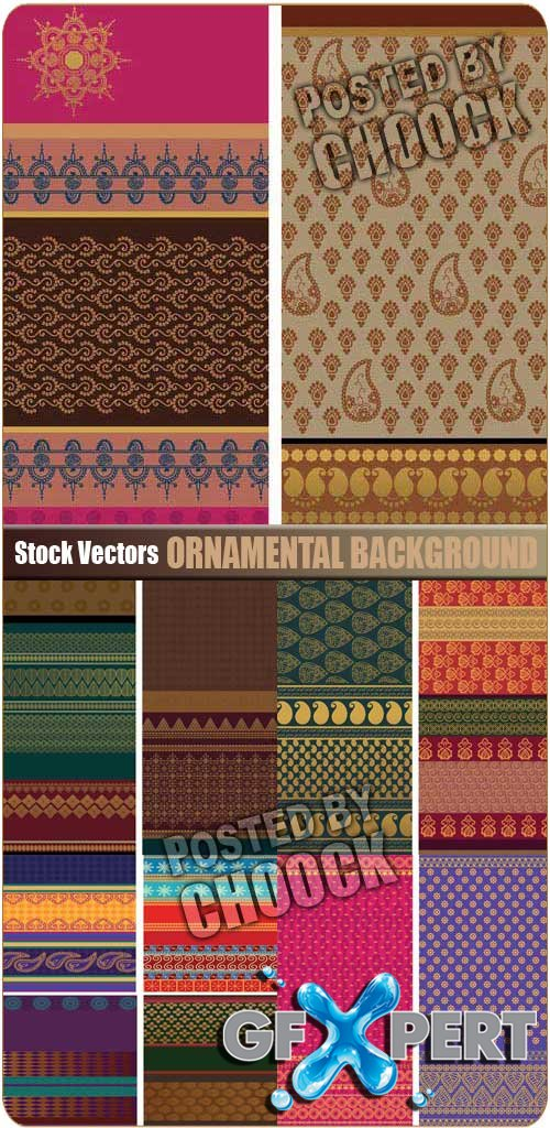 Ornamental background - Stock Vector