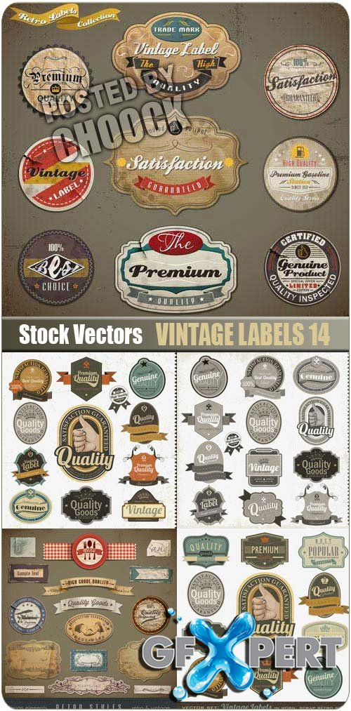 Vintage labels 14 - Stock Vector
