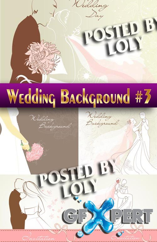 Wedding Backgrounds #3 - Stock Vector