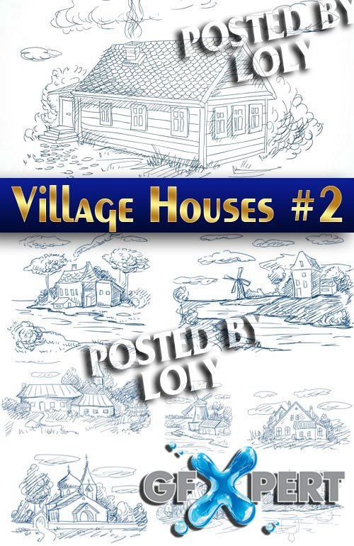 Village House #2 - Stock Vector