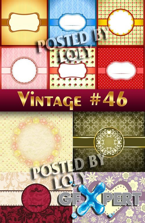 Vintage backgrounds #46 - Stock Vector