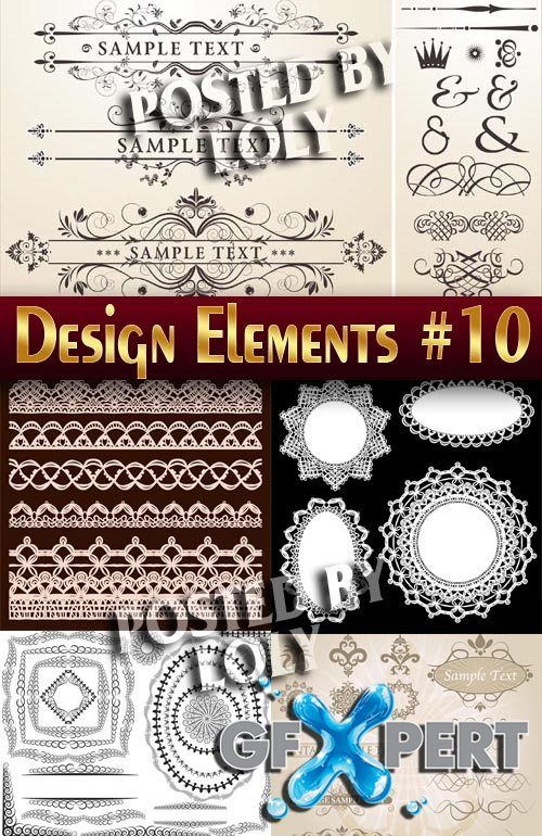 Design elements #10 - Stock Vector