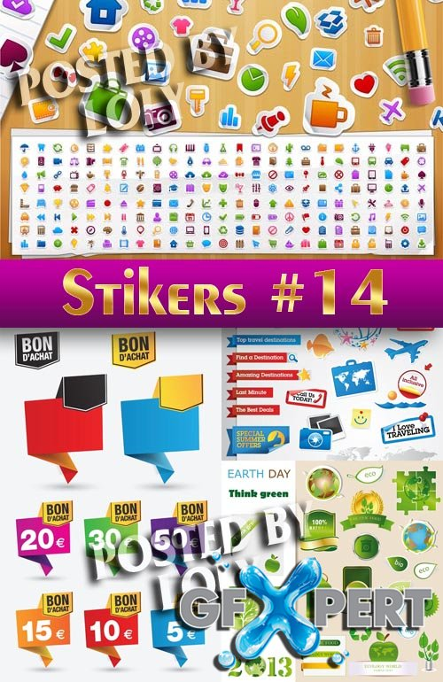 Stickers. SALE #14 - Stock Vector