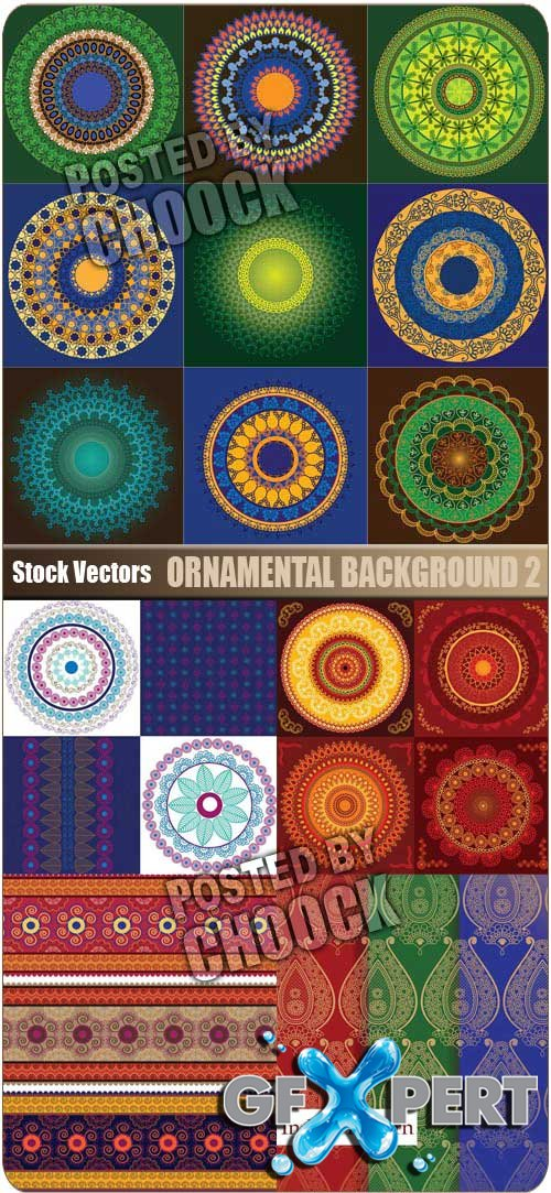 Ornamental background 2 - Stock Vector