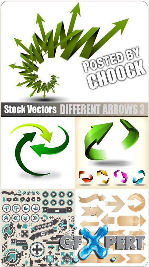Different arrows 3 - Stock Vector