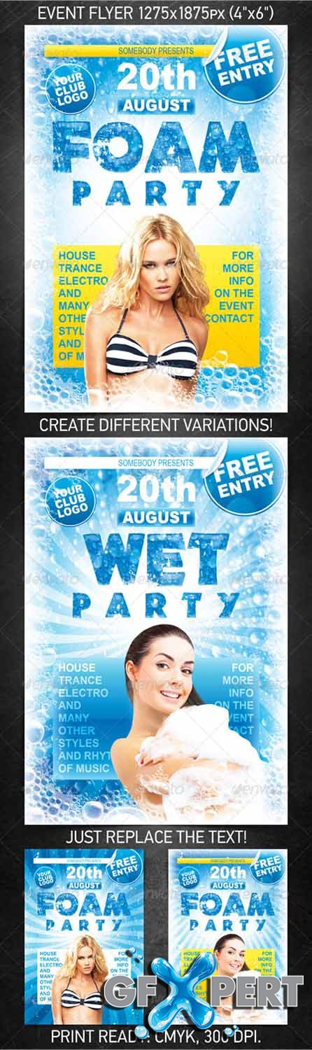 GraphicRiver Foam Party Flyer