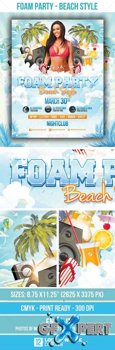 GraphicRiver Foam Party Beach Style - Flyer Template