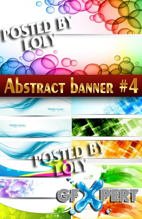 Abstract banners #4 - Stock Vector