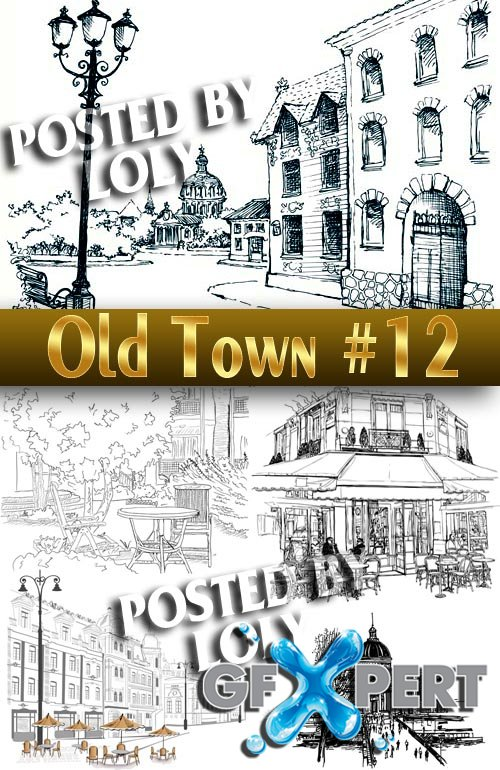 Old Town #12 - Stock Vector
