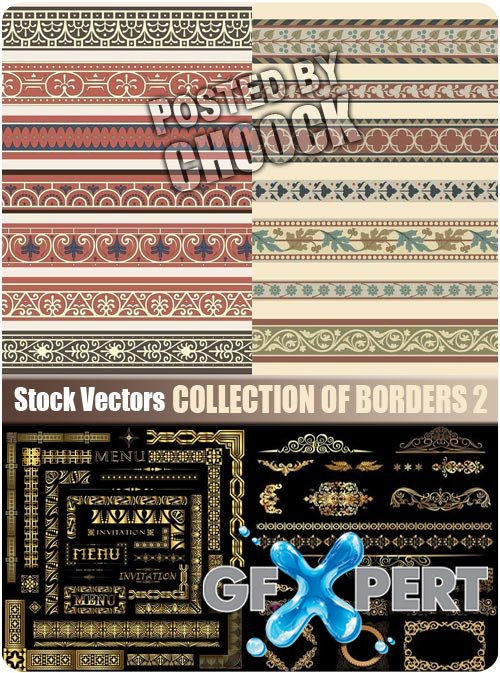 Collection of borders 2 - Stock Vector