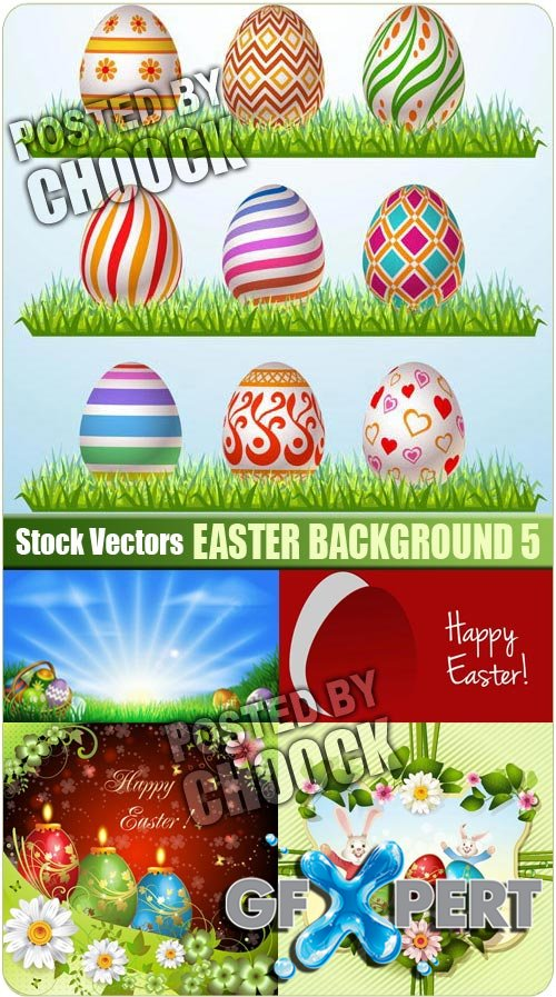 Easter background 5 - Stock Vector