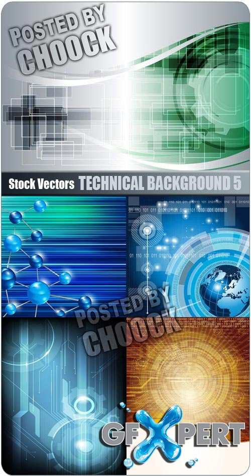 Technical background 5 - Stock Vector